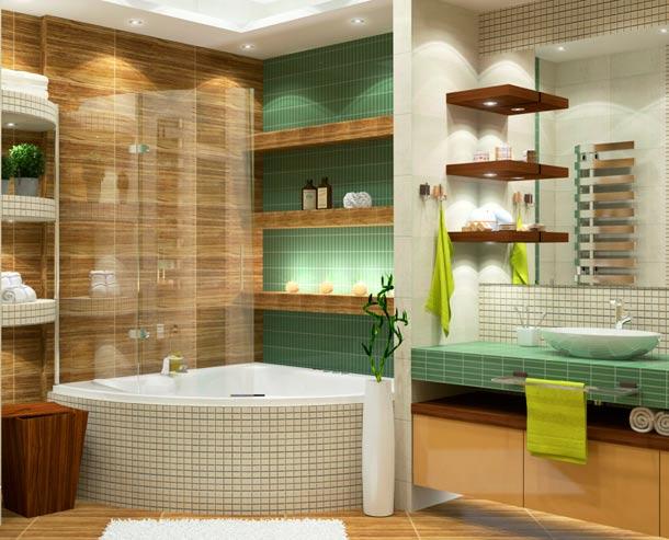 варианты керамической плитки для дизайна ванны