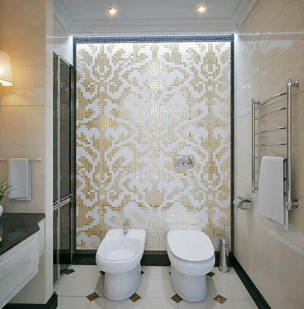 отделка стен плиткой мозаикой