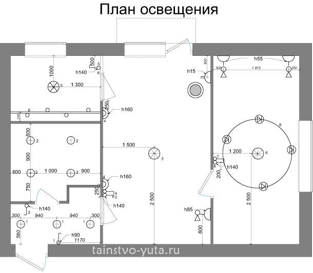 Как нарисовать план освещения