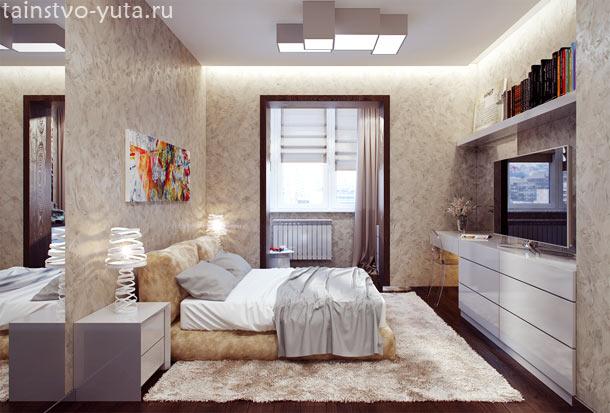 декоративная штукатурка в дизайне спальни