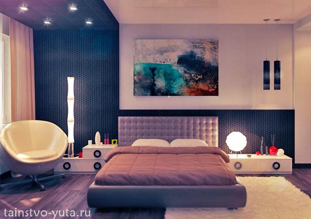спальня хай-тек