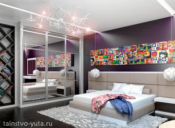 поп-арт в дизайне спальни