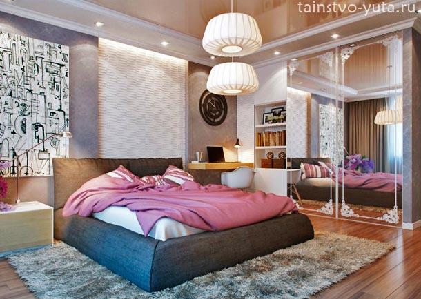 вариант расположения мебели в спальне