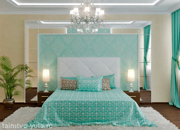 комбинация отделочных материалов в дизайне спальни