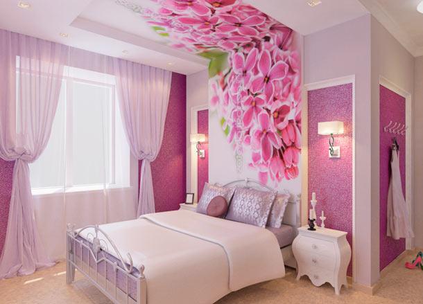 интерьер в розовых тонах фото