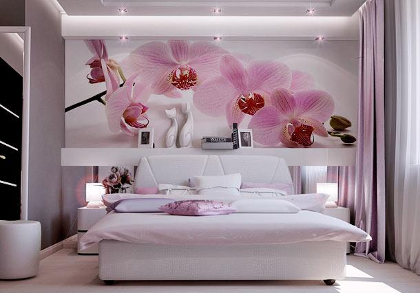 интерьер в серо розовых тонах