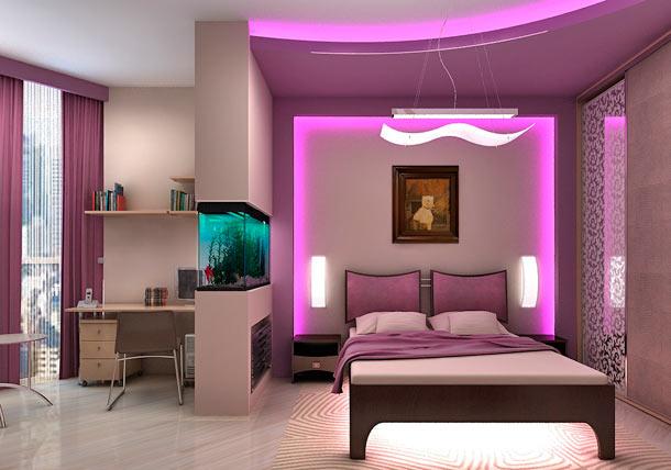 интерьер розовой спальни фото