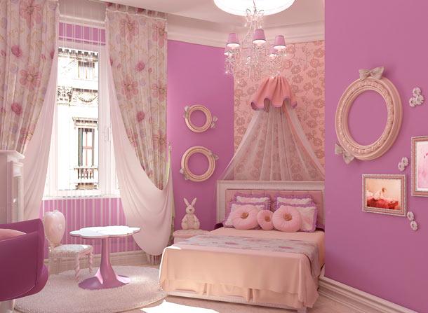 розовый цвет в интерьере фото