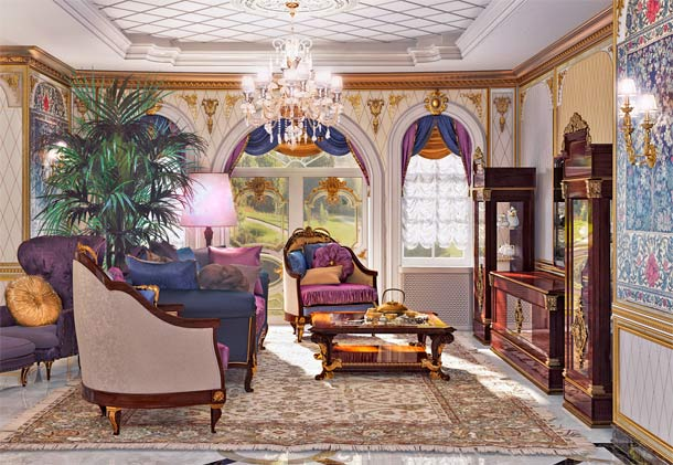 гостиная в стиле ампир