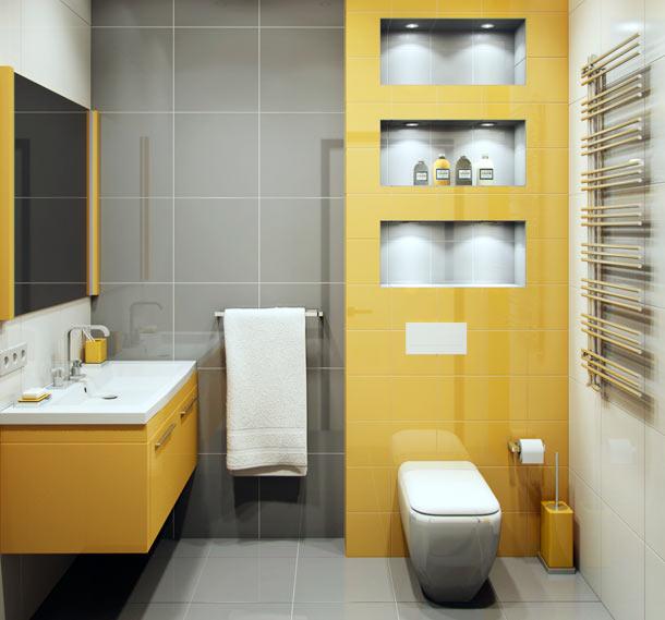 серо желтый туалет