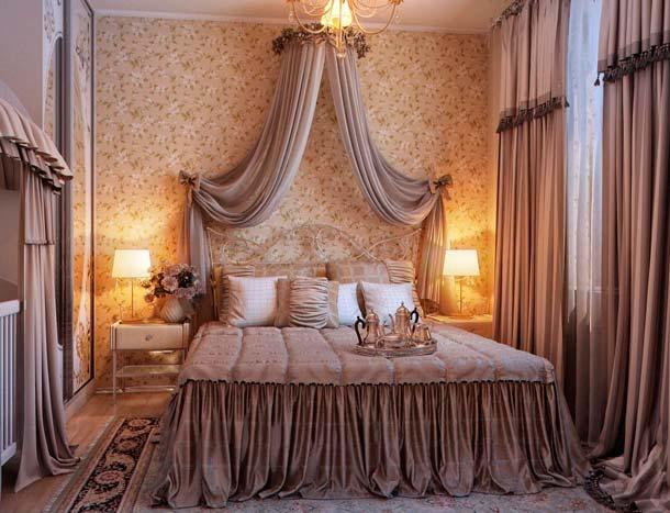 полог над кроватью