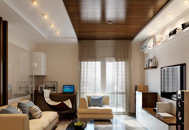 ламинат на потолке дизайн