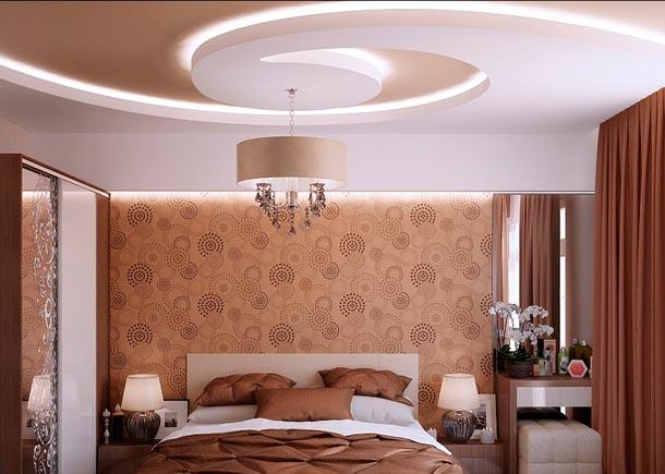 гипсокартонный потолок фото