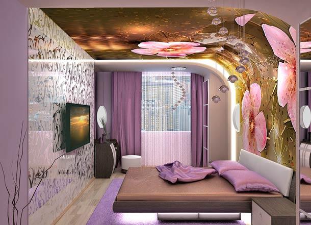 фотообои на потолке дизайн