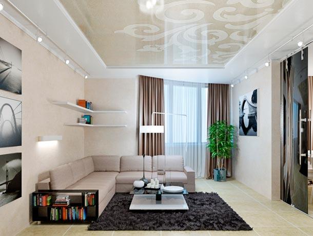 современный дизайн потолка