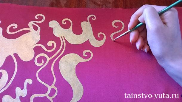 декорировать абажур для торшера