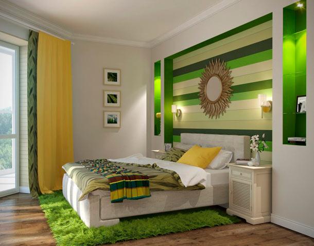 влияние зеленого цвета в интерьере