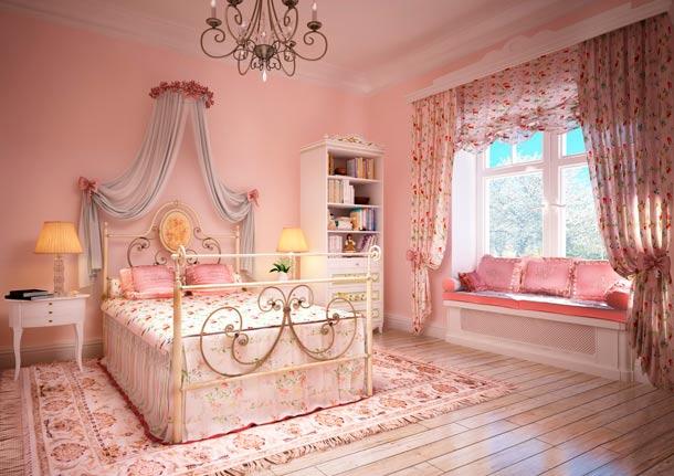 как розовый в интерьере влияет