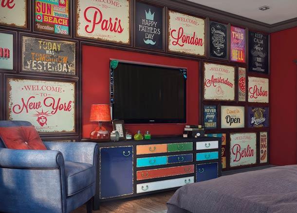 декоративная стена для телевизора