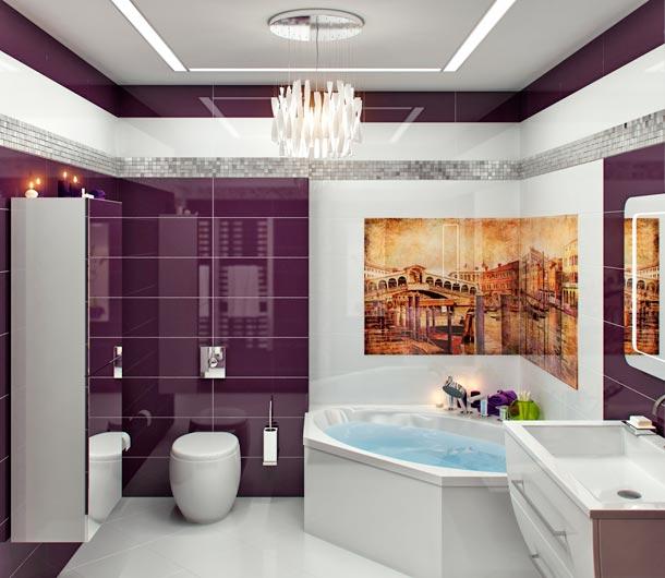 вариант совмещенной ванны с туалетом