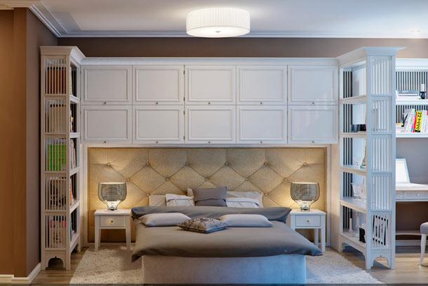 мебель в изголовье кровати