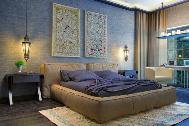 картины на стене над кроватью