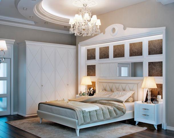 как оформить стену +над кроватью в спальне фото