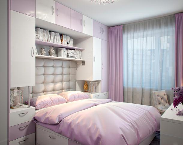 кровать встроенная в мебель фото