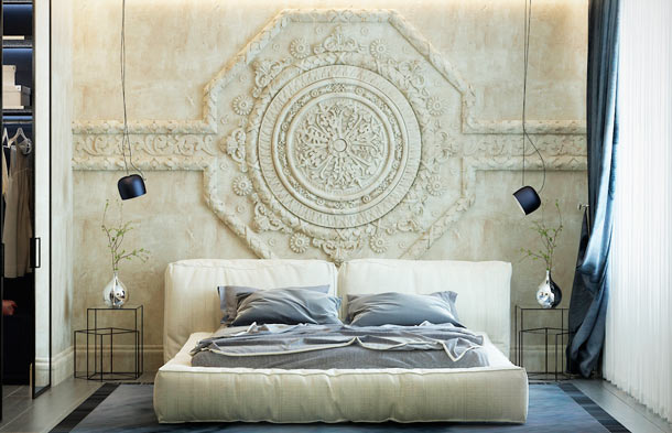 оформление стены над кроватью