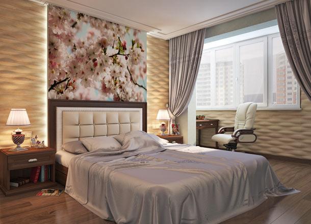 декор стены за кроватью