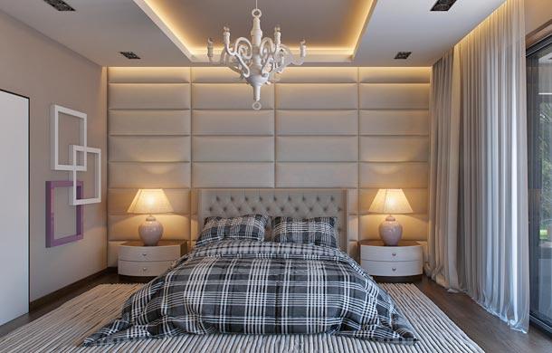 мягкая стена за кроватью