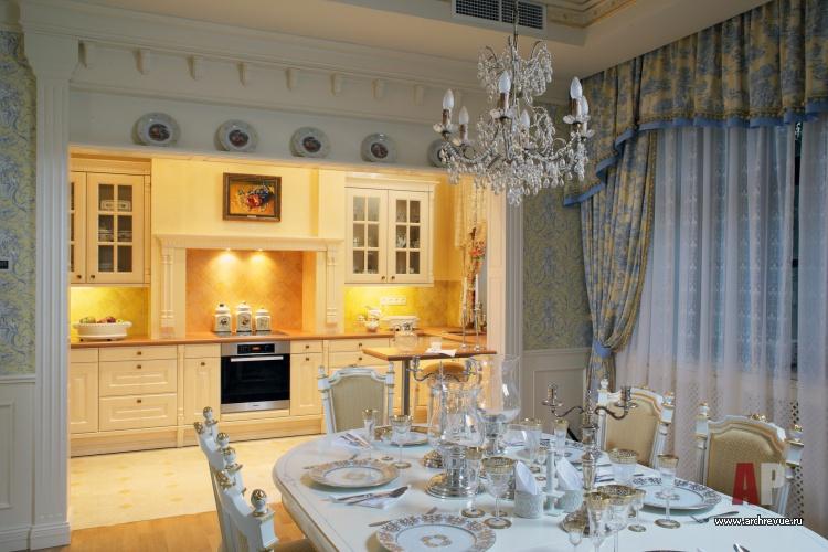 Дизайн классической кухни в частном доме