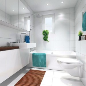 Small-White-Bathroom-with-Floor-Mats-Ideas-590x590
