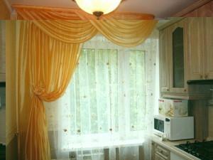 Дизайн-штор-для-кухни-фото