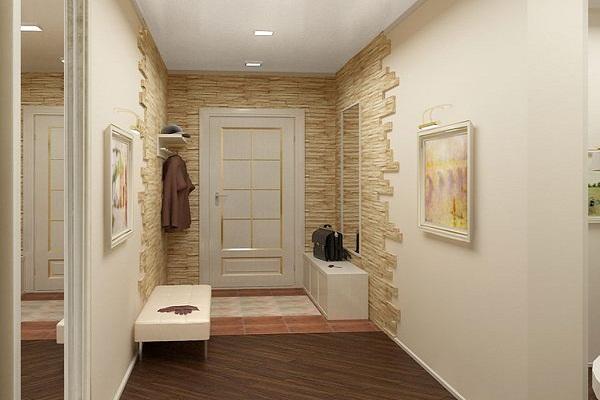 Фото дизайна стен в прихожей